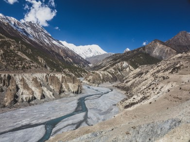 Valley to Tilicho Basecamp. Manang, Nepal