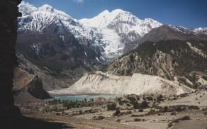 Jezero Gangnapurna. Manang, Nepál