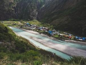 Village Tak. Pisang Valley, Nepal