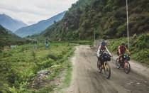 Jízda do Besishaharu. Bhulbhule, Nepál