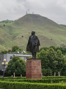 Lenin Square. Nurak, Tajikistan