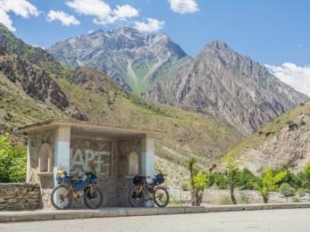 A Lunch Break. Tajikistan and Afganistan Frontier