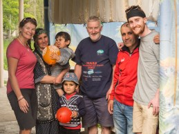 Us with Zafar and his family. Tang, Tajikistan
