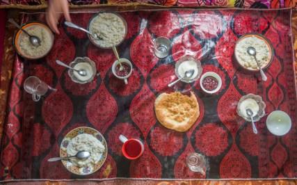 A Rice Porrige. Alichur Area, Tajikistan