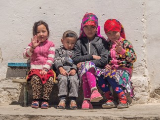 Kyrgyzská děcka. Murghab, Tajikistan
