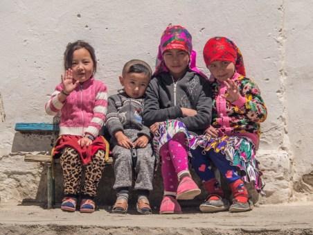 Kyrgyz kids. Murghab, Tajikistan
