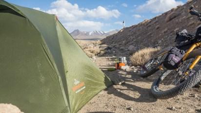 Camping spot. Murghab Area, Tajikistan