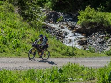 Dasha rides like a girl. Dasha is Badass. Be like a Dasha. Ride like a Girl. Ike-Naryn, Kyrgyzstan