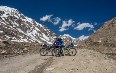 Almost summit kiss. Tosor Pass, Kyrgyzstan