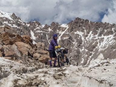 Real top of the pass. Tosor Pass, 3895m asl. Kyrgyzstan