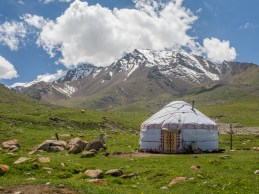 Like a yurt from a fairytale. Tosor Pass Area, Kyrgyzstan