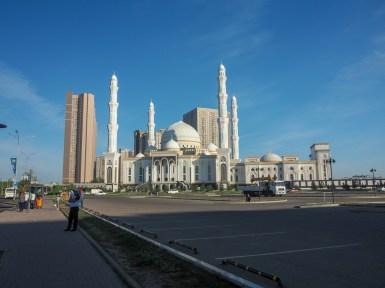 Mosque in morning sun. Astana, Kazakhstan