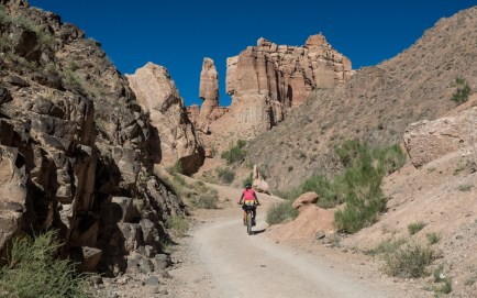 Morning canyon for ourselves. Charyn Canyon, Kazakhstan