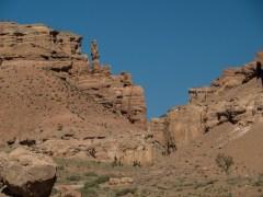 Stěny. Šaryn kaňon, Kazachstán