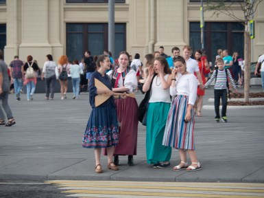 Young Russians. Moscow, Russia