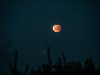 Moon eclipse. Billnas, Finland