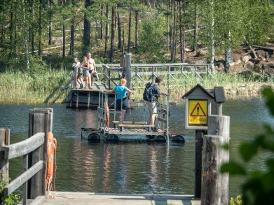 Fox ferry. Repovesi National Park, Finland