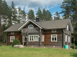 Finnish loghouse. Finland