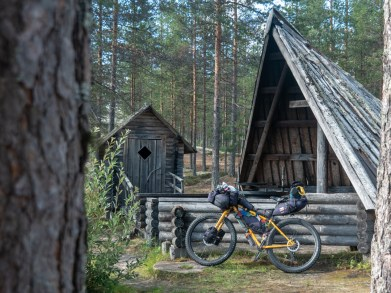 Laavu. Národní park Rokua, Finsko
