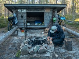 Bark and flint. Tornio region, Finland