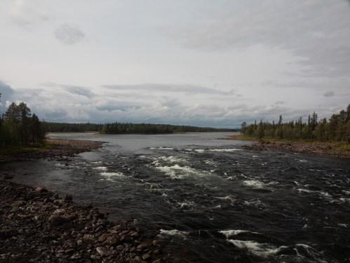 Vittangi river. Vittangi, Sweden