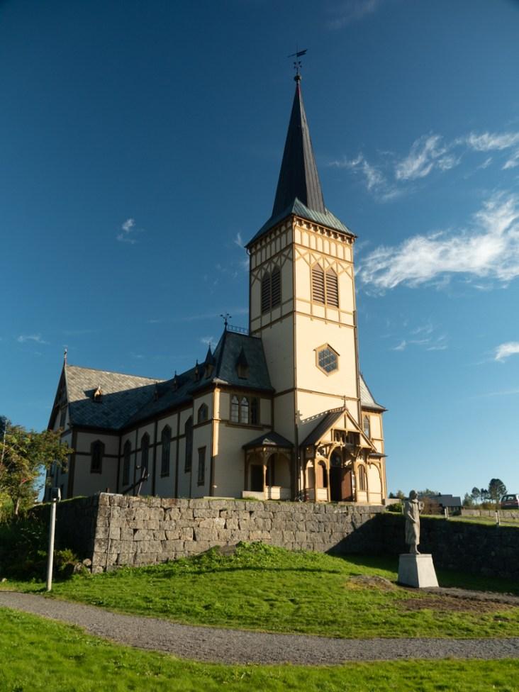 Kostel Vågan. Kabelvåg, Norsko