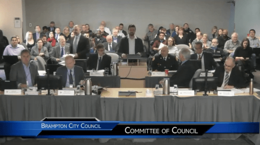 Delegation to Brampton Committee of Council, December 5, 2018