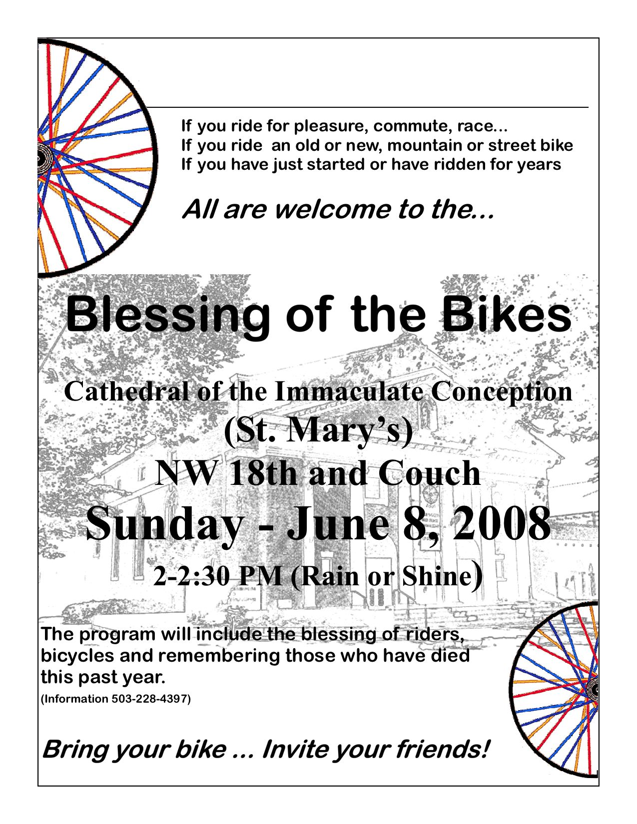 """Archdiocese of Portland will hold a """"Blessing of the Bikes"""