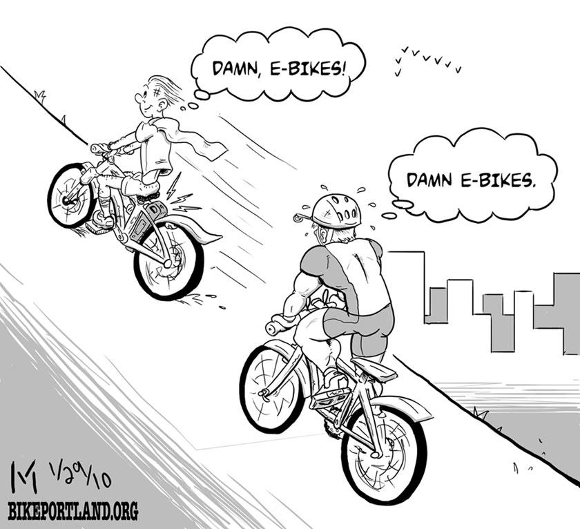 friday cartoon e bikes