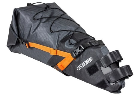 Ortlieb Seat-Pack Saddle Bag in slate colour for bikepacking