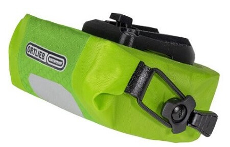 OrtliebMicro Two Seat Bag in green/lime colour