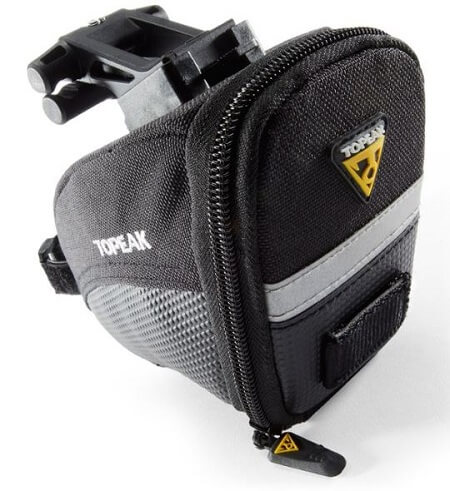 Small size Topeak Aero Expanding Wedge Saddle Pack in black colour
