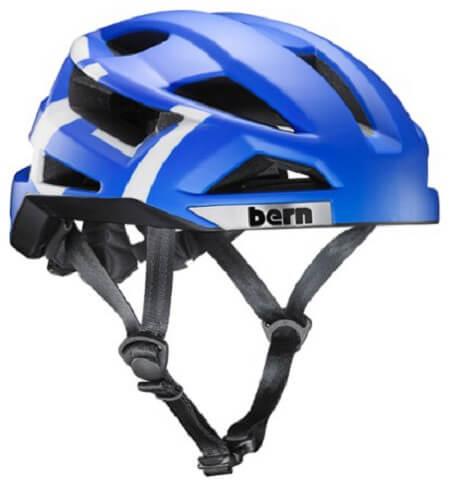 BernFL-1 Pave Commuter Helmet in Matte Royal Blue color