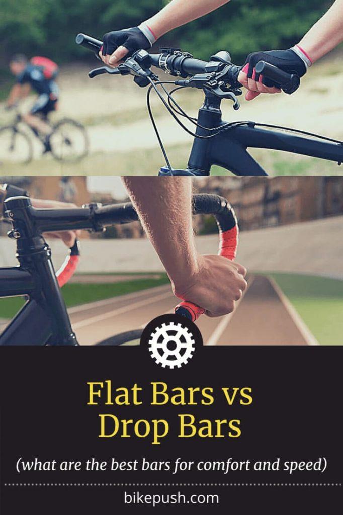 Flat versus drop handlebars - image for Pinterest