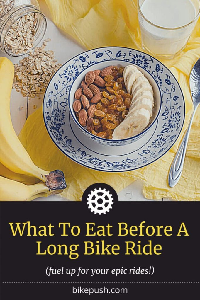What to Eat Before a Long Bike Ride - Pinterest Image