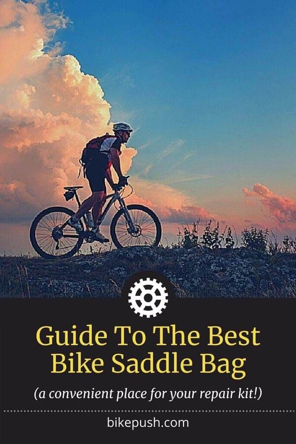 Pinterest Pin for Best Bike Saddle Bag