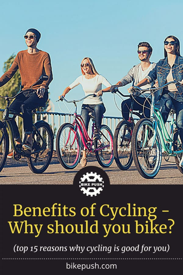 Cycling benefits - Pinterest image