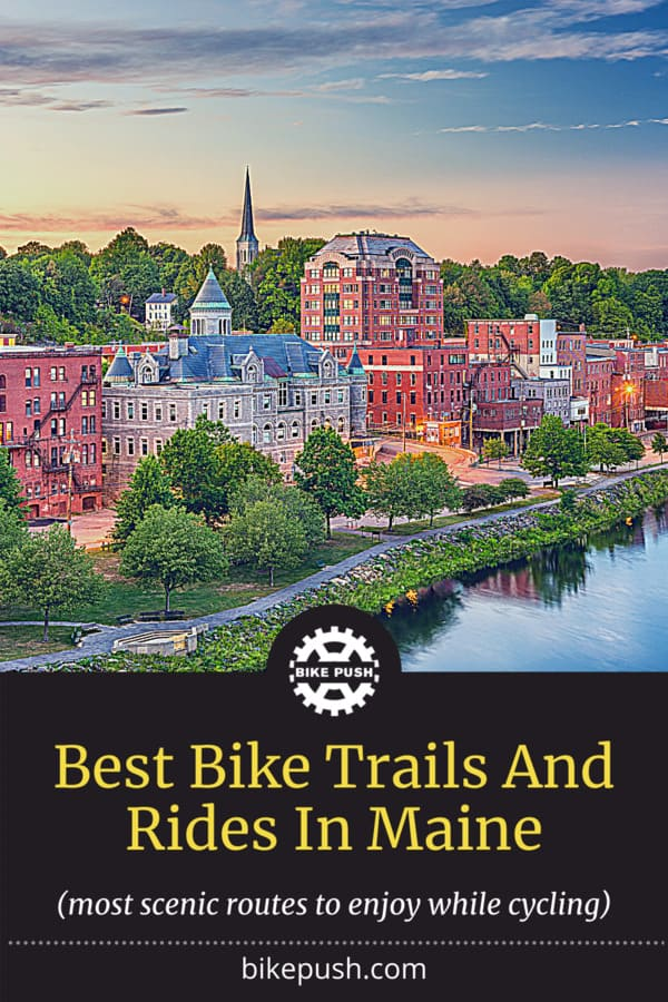Best Bike Trails And Rides In Maine - Pinterest Pin Small Image