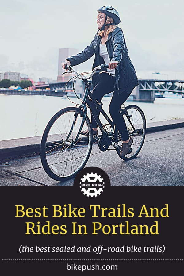 Best Bike Trails And Rides In Portland - Pinterest Pin Small Image
