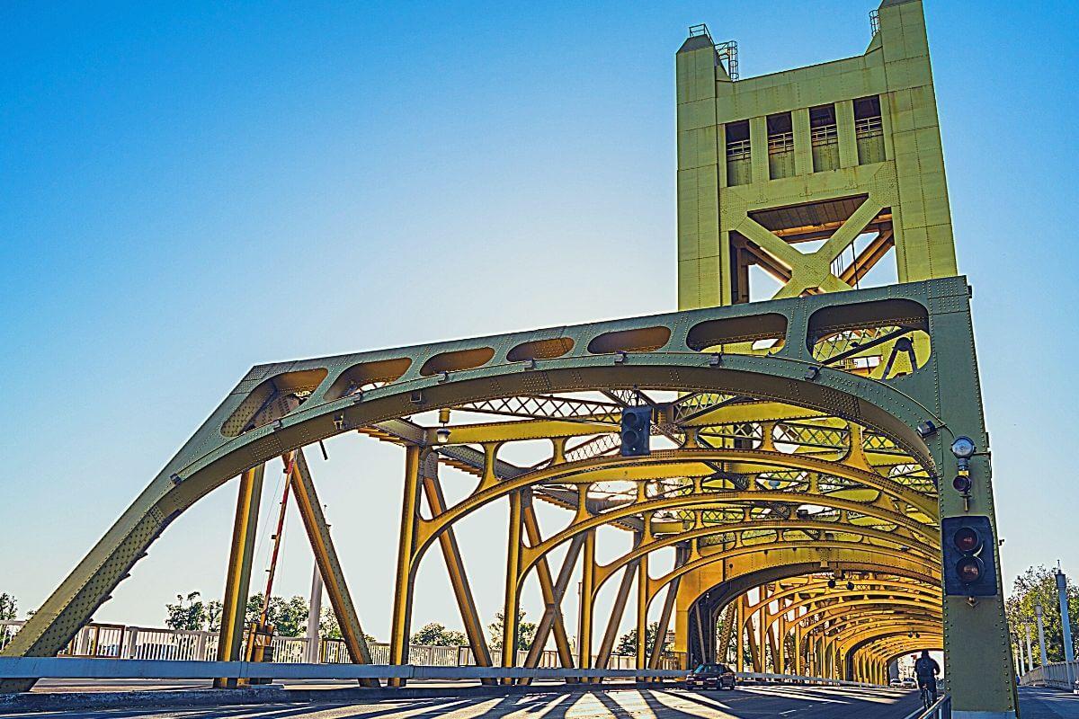 the Tower Bridge in Sacramento, California