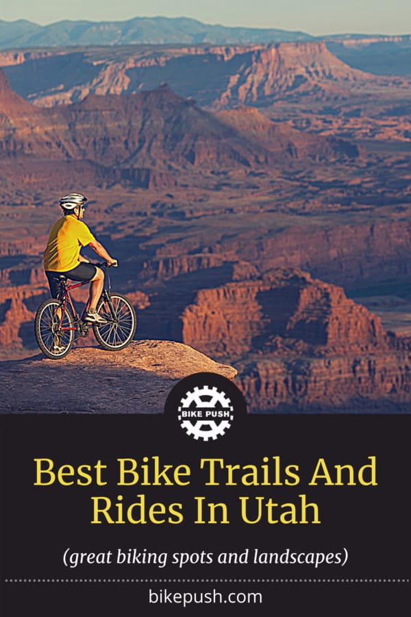 Best Bike Trails And Rides In Utah - Pinterest Pin Small Image