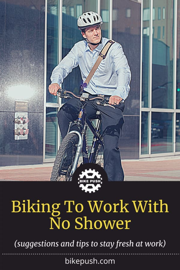 Biking To Work With No Shower - Pinterest Pin Small Image