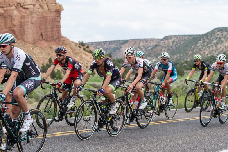 cyclists race on Scenic Byway 12 near Torrey, Utah - Flickr image