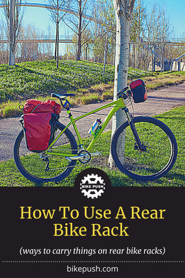 How To Use A Rear Bike Rack - Pinterest Pin small image