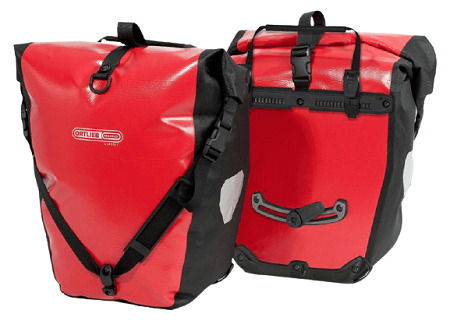 Ortlieb Back-Roller Classic Panniers Pair in Red color