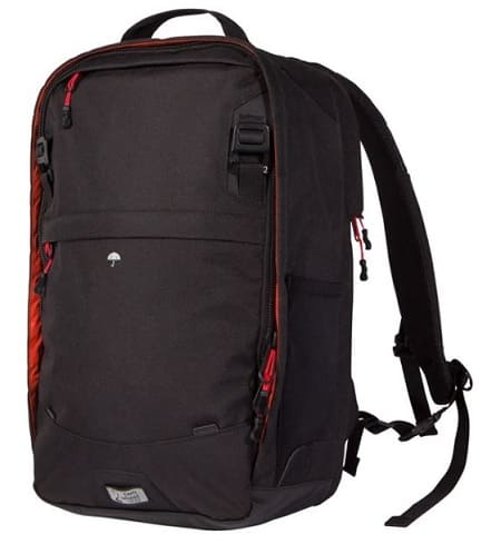Two Wheel Gear Pannier Backpack Convertible in Black color