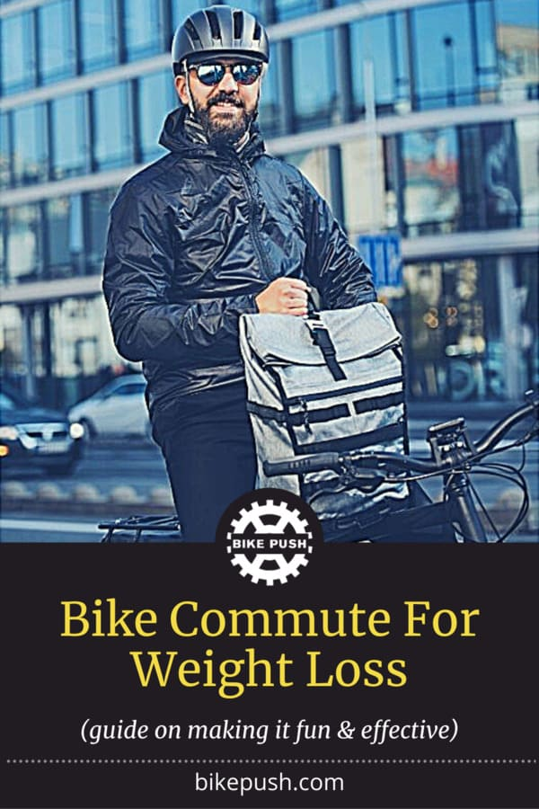 Bike Commute For Weight Loss - Pinterest Pin Small Image