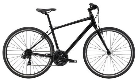 Cannondale Quick 6 Hybrid Bike in Black color