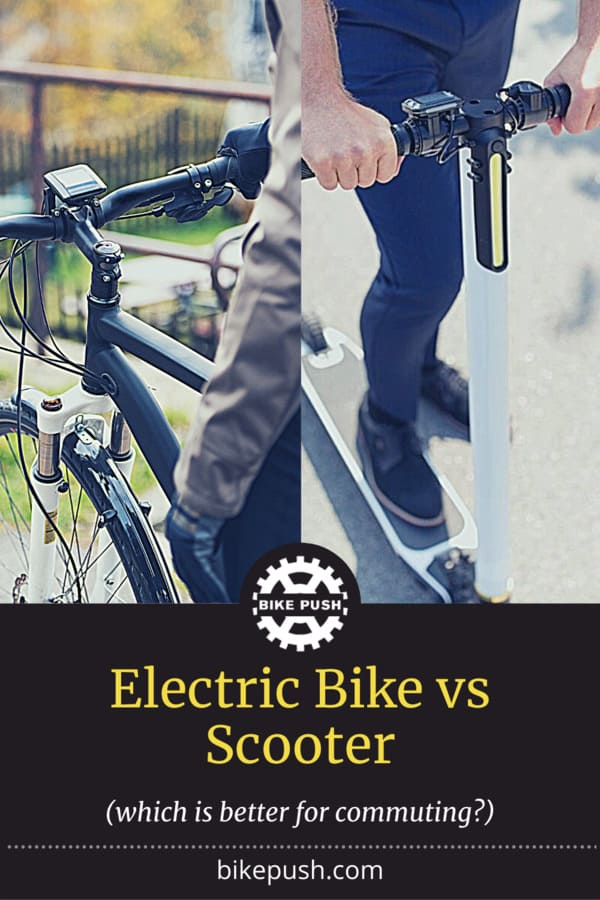 Electric Bike Vs Scooter - Which Is Better For Commuting? - Pinterest Pin Small Image