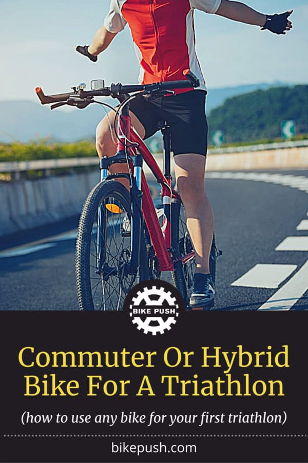 Using A Commuter Or Hybrid Bike For A Triathlon - Pinterest Pin Small Image